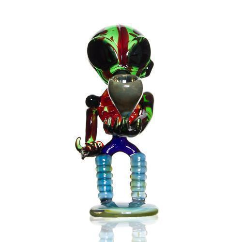 Hand Pipe Made in Glass With Alien Design