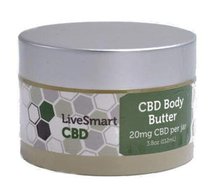 LiveSmart Hemp Oil Body Butter with Pure Hemp Extract (20mg)