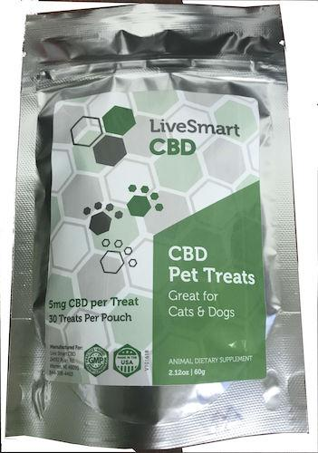 LiveSmart Pet Treats for Cats and Dogs - Cheese Flavor - 5mg per treat (30 Count)