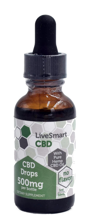 LiveSmart Hemp Oil Full-Spectrum Drops (500mg, 1000mg)