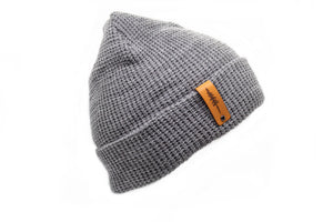 Waffle Knit Beanie With Cuff