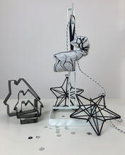 Load image into Gallery viewer, Winter Reindeer hanging decoration Duo