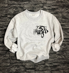 Leopard Head Sweatshirt - Embroidered