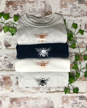 Load image into Gallery viewer, White Bee T-shirt