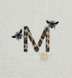 Children's personalised Initial and Bee t-shirt