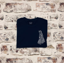 Load image into Gallery viewer, Navy Mini Chicken t-shirt