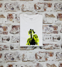 Load image into Gallery viewer, Yellow Neon Commander doll head t-shirt
