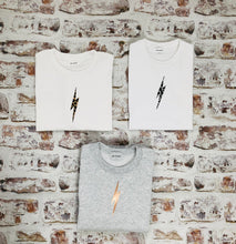 Load image into Gallery viewer, Animal print lightning bolt t-shirt