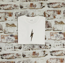 Load image into Gallery viewer, Children's Animal print lightning bolt t-shirt - unisex