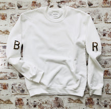 Load image into Gallery viewer, Varsity style Initial sleeved sweatshirt
