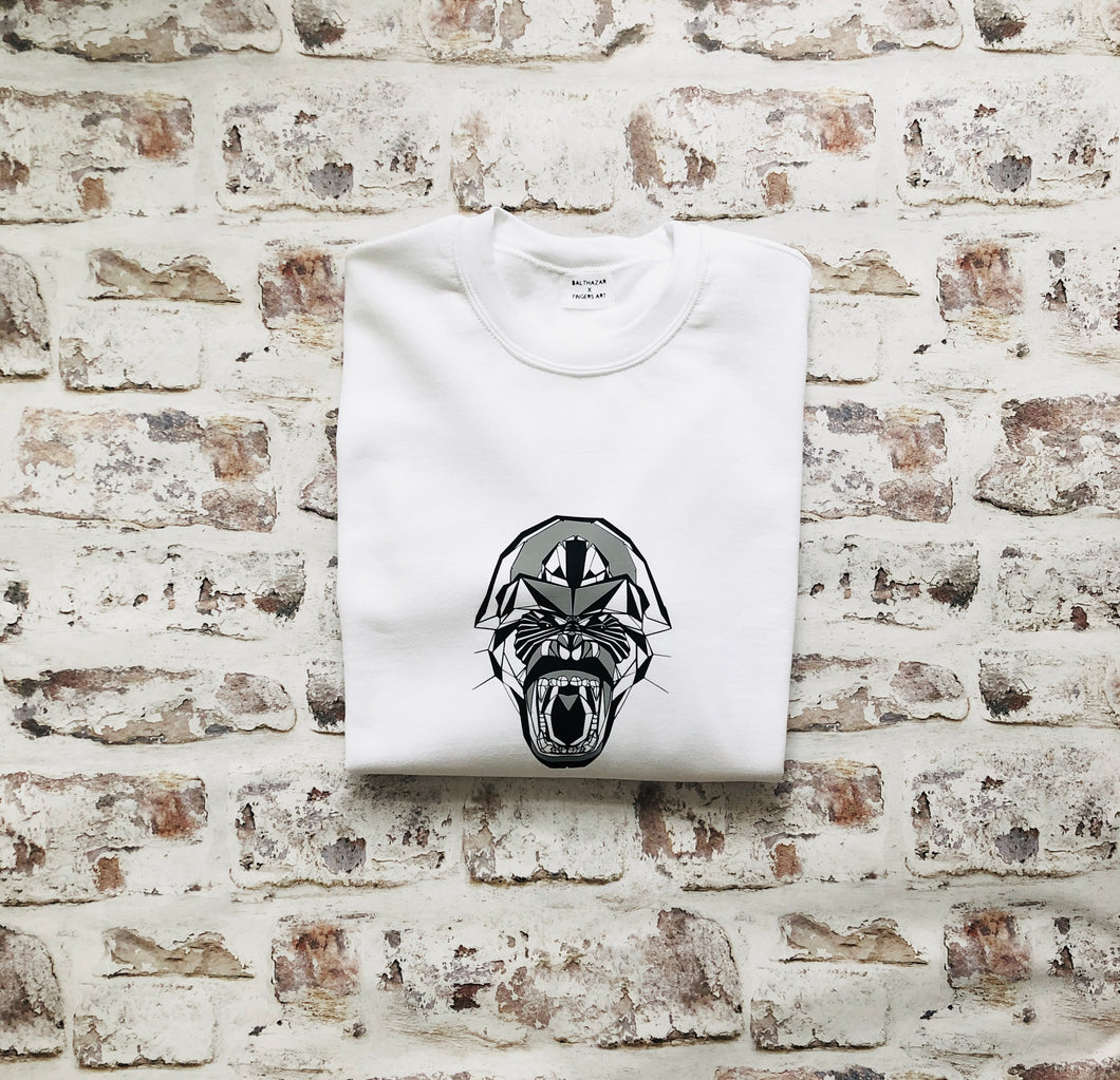 Graphic geometric Gorilla Sweatshirt