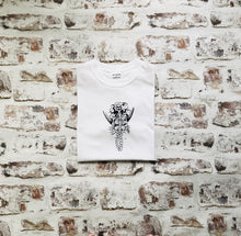 Load image into Gallery viewer, Skeleton Mermaid T-shirt