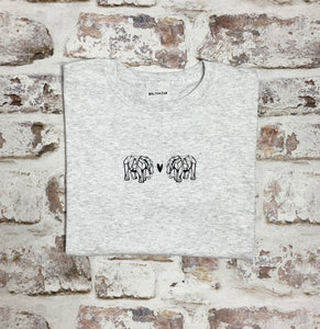 Origami Elephant love t-shirt