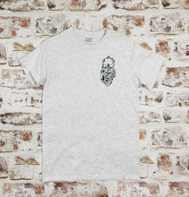 Load image into Gallery viewer, Mini tattoo style skull and rose T-shirt