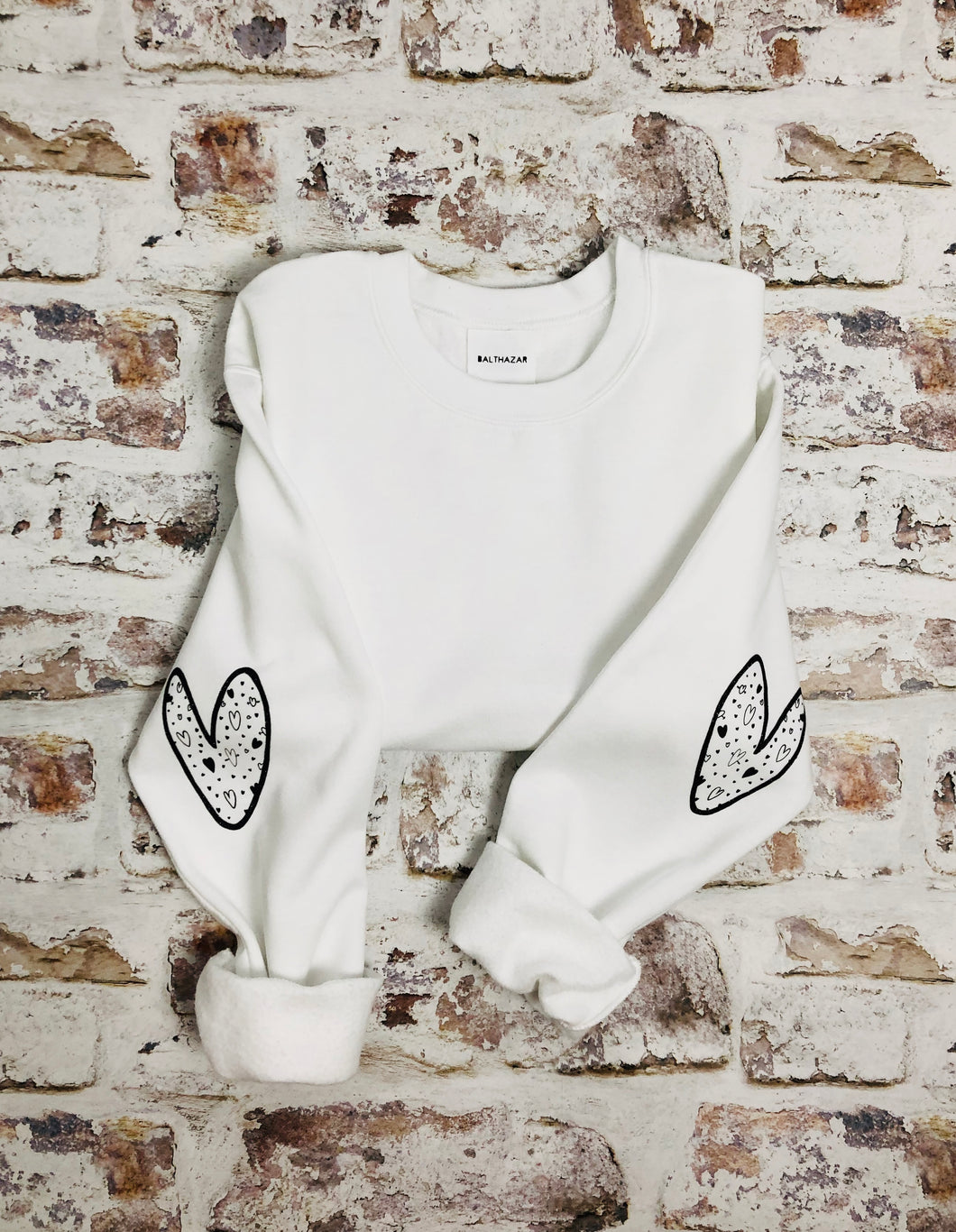 Love heart sleeved Sweatshirt