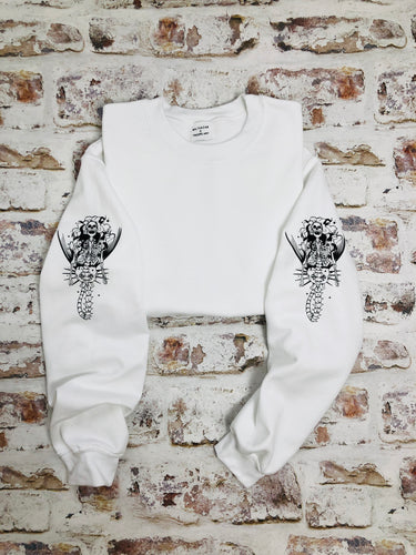 Skeleton Mermaid Sleeved Sweatshirt