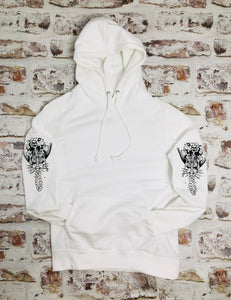 Skeleton Mermaid Sleeved Hoody - Unisex style