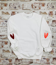 Load image into Gallery viewer, Love heart elbow placement sweatshirt