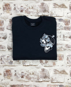 Smoking Skull sweatshirt - Unisex