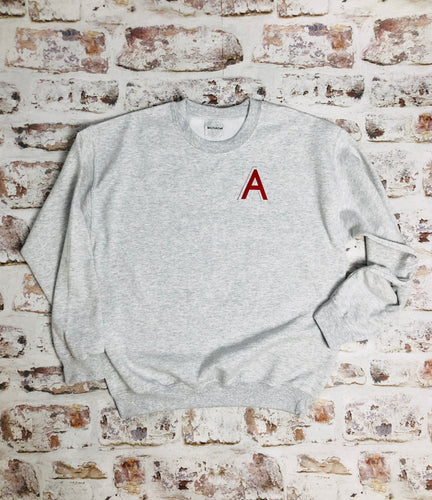 Varsity style Initial sweatshirt with Cherry Red Letter
