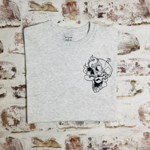 Load image into Gallery viewer, Smoking Skull t-shirt