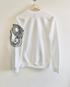 Quetzalcoatl Tattoo style sleeved sweatshirt
