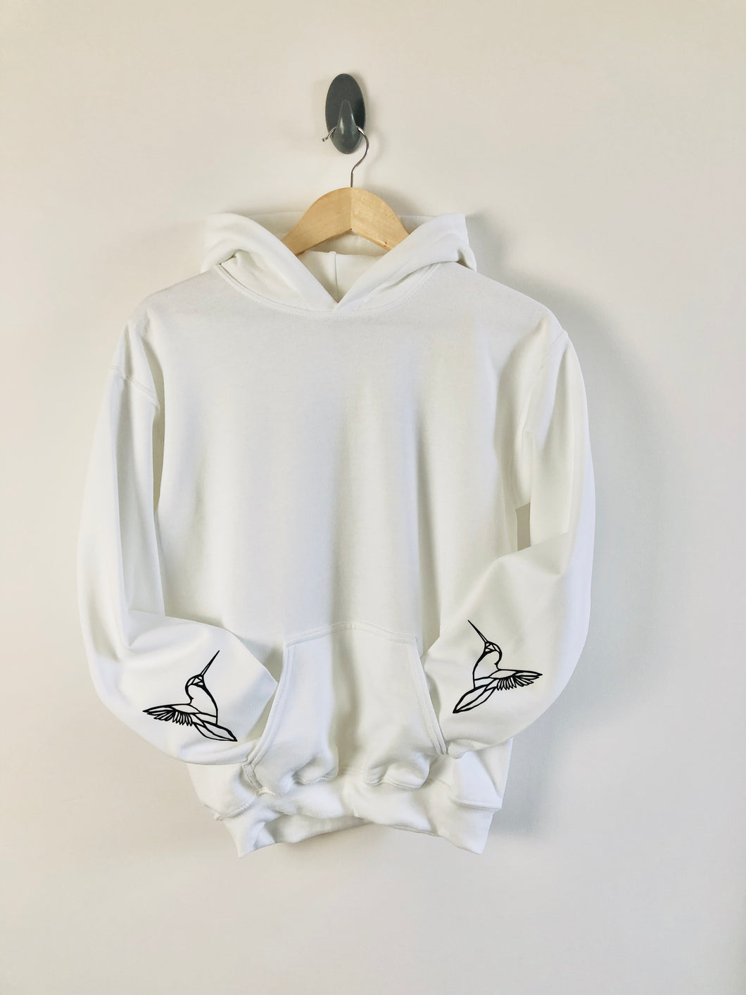 Hummingbird sleeved design Hoody - unisex