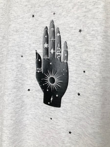 Jewelled Palm t-shirt - Celestial- Occult