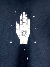 Load image into Gallery viewer, Jewelled Palm t-shirt - Celestial- Occult