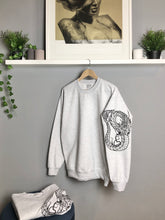 Load image into Gallery viewer, Quetzalcoatl Tattoo style sleeved sweatshirt