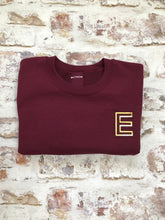 Load image into Gallery viewer, Christmas Edition - Outline Varsity style Initial sweatshirt