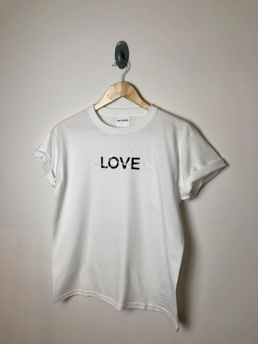 Love t-shirt - Metallic/ Matt mix