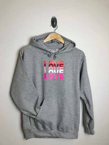 LOVE Hoody- mixed pink vinyl