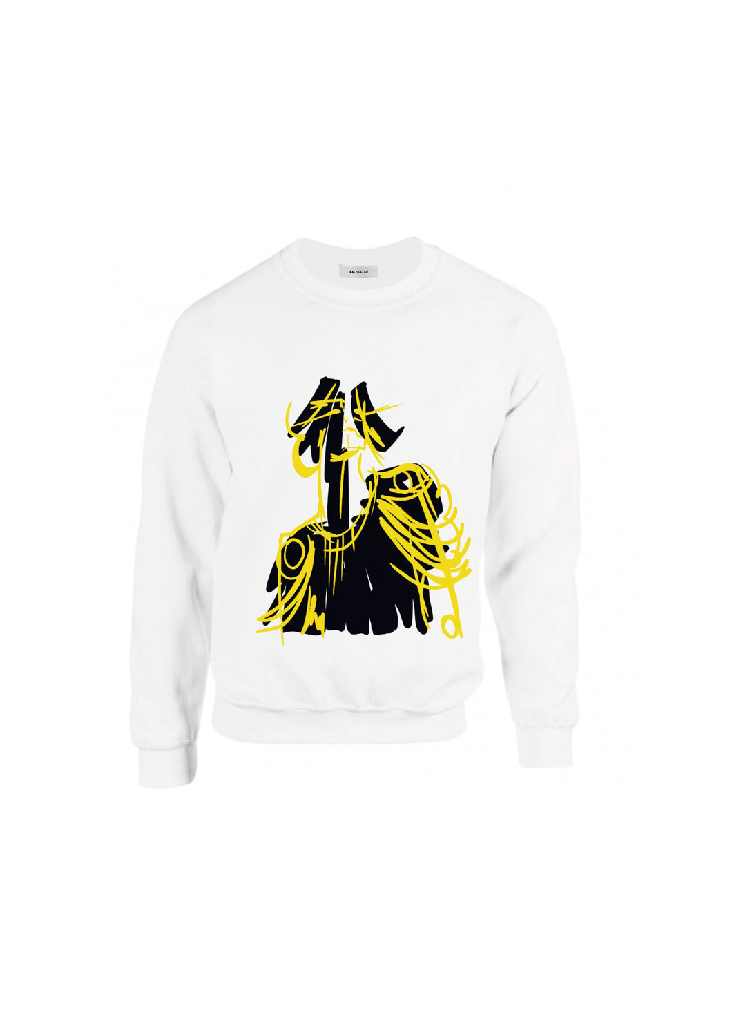 Yellow Neon Commander doll head Sweatshirt