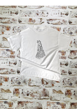 Load image into Gallery viewer, Large Chicken t- shirt by Fingers Art