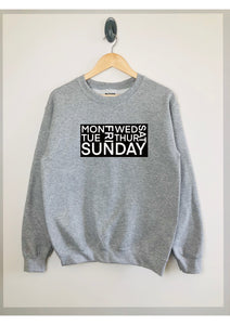 7 Days block print sweatshirt