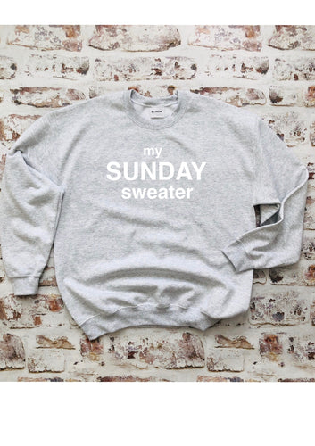 My Sunday sweater- customised sweatshirt