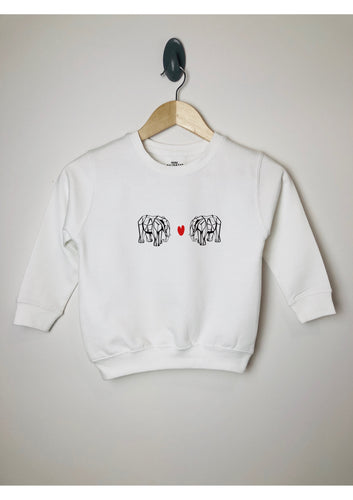 Children's Origami Elephant Love sweatshirt - Mini Balthazar