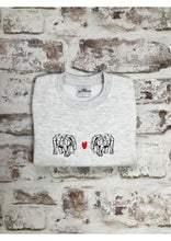 Load image into Gallery viewer, Children's Origami Elephant Love sweatshirt - Mini Balthazar