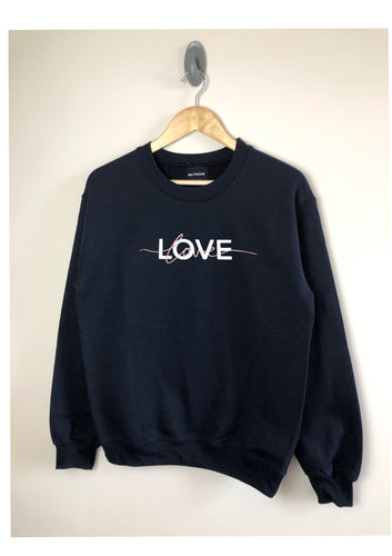 LOVE sweatshirt - Metallic matt mix