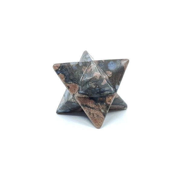 Handcarved Merkaba Star Llanite