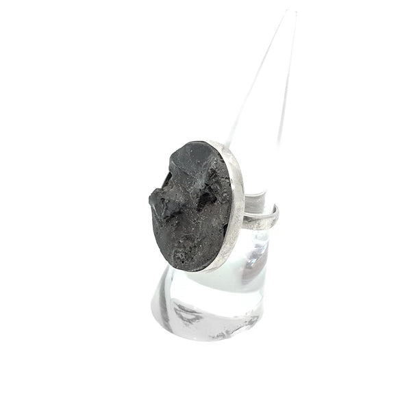 Lava Stone Sterling Silver ring size 6.75
