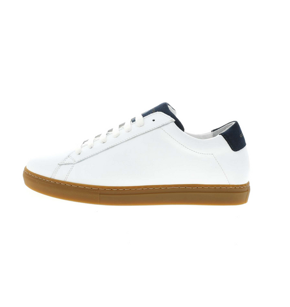 women sneaker in white/navy leather | camino71