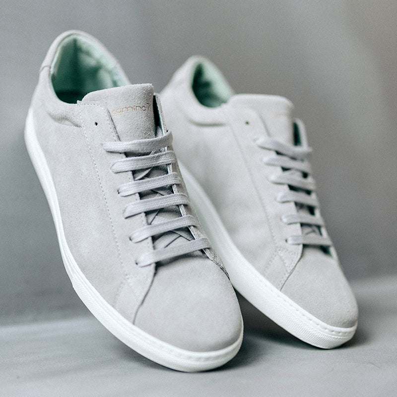 men sneaker in grey suede leather | camino 71