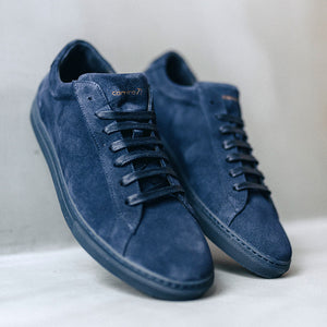 men sneaker navy suede leather | camino 71