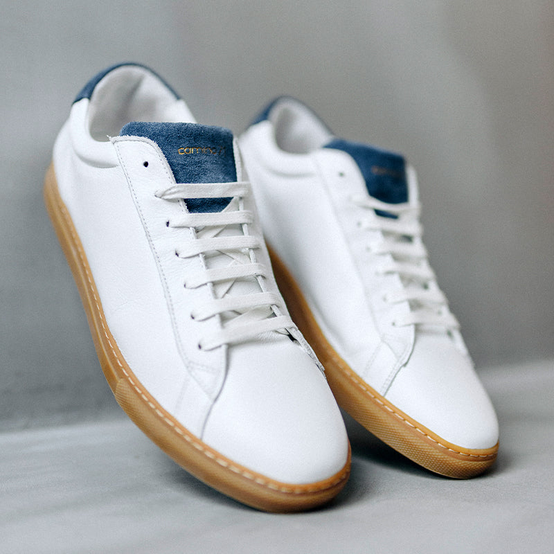 men sneaker white-blue | camino71
