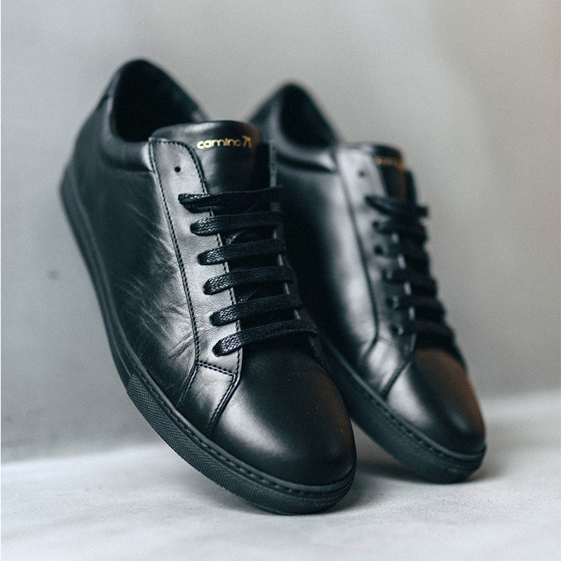 black leather men sneaker | camino71