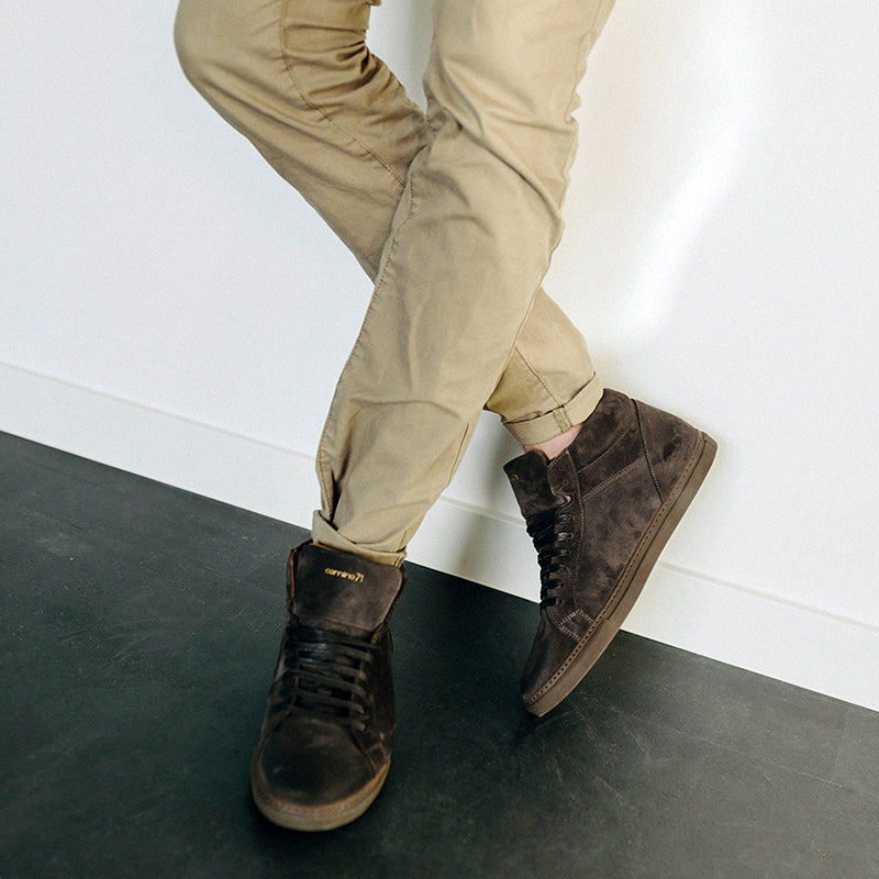 antra suede leather sneaker men | camino 71