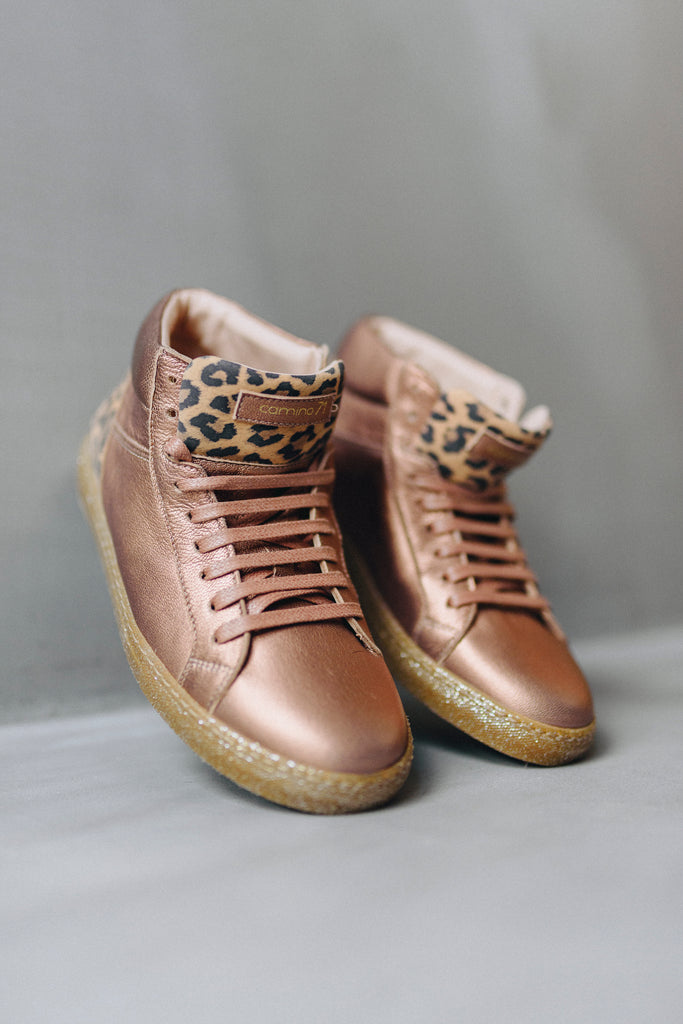 71 High nude_leo leather sneaker