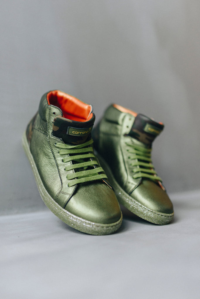 71 High olive_camuflage sneaker